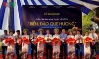 Inauguran exposición artística sobre mares e islas vietnamitas