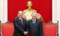 Mayor cooperación partidista de Vietnam y Laos
