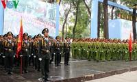 勝利の日を記念する集会・パレードのリハーサル