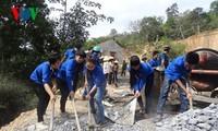 積極的に新農村作り運動に参加する青年たち