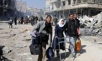 国連安保理が、シリアでの停戦決議の即時実施を強調