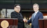 平和への希望を灯す   板門店での南北首脳会談