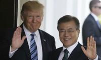 文大統領 米国に向け出発=トランプ氏と「非核化」調整へ
