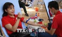国際献血者デーを記念する活動