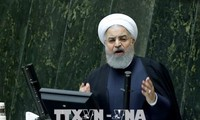イランへの恩恵保証なら核合意から離脱せず=ロウハニ大統領