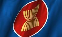 オランダで、 ASEAN旗の掲揚式