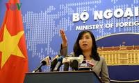 外務省報道官、再び中国に抗議