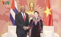 クアン主席、ガン国会議長、キューバの要人と懇談