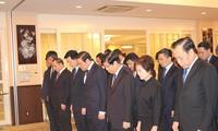 各国駐在ベトナム大使館 クアン国家主席の弔問式を行う