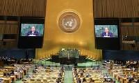フック首相 国連総会で演説