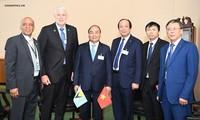 フック首相 国連総会に出席中の各国指導者らと会見