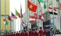 ジャカルタアジアパラ大会、ベトナム国旗の掲揚式