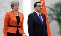 中国と英国の両首相による会談