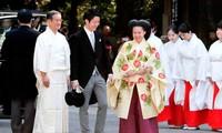 絢子さま、明治神宮で結婚式