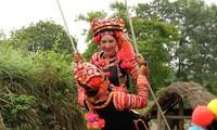 ハニー族の雨期祭りのブランコ