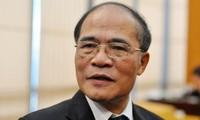 Ketua MN Vietnam, Nguyen Sinh Hung memulai kunjungan resmi di Myanmar