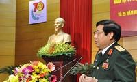 Mengadakan pertemuan sehubungan dengan peringatan ultah ke-70 Berdirinya Tentara Rakyat Vietnam