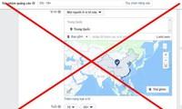 Facebook menghapuskan dua kepulauan Hoang Sa dan Truong Sa ke luar dari peta Tiongkok