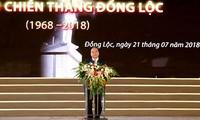 PM Viet Nam, Nguyen Xuan Phuc menghadiri upacara peringatan ultah ke-50  Kemenangan Dong Loc