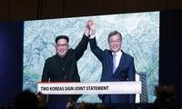 Opini umum  internasional memberikan penilaian tinggi  terhadap pertemuan puncak antar-Korea