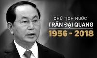 Pers internasional  secara serempak memberitakan wafatnya Presiden Viet Nam, Tran Dai Quang