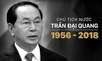 Pimpinan dari negara-negara, orgnisasi-organisasi internasional terus mengirim surat, tilgram belasungkawa kepada pimpinan Partai, Negara, rakyat Viet Nam dan keluarga Presiden Tran Dai Quang