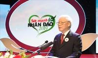 Sekjen, Presiden Viet Nam, Nguyen Phu Trong: Bertindak bersama menyebar-luaskan nilai kemanusiaan di kalangan masyarakat