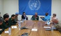 Rombongan Regu Kerja lintas cabang  melakukan temu kerja dengan badan-badan Perutusan UNMISS di Sudan Selatan