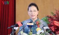 Ketua MN Viet Nam, Nguyen Thi Kim Ngan menghadiri  acara peringatan HUT ke-30 berdirinya Perusahaan Umum  Tan Cang Sai Gon