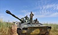 Tentara Suriah memperkuat operasi memukul mundur  kaum pembangkang di kawasan Barat Laut