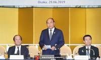 PM Nguyen Xuan Phuc  bertemu dengan para pemimpin dari badan-badan usaha  papan atas  Jepang di bidang teknologi