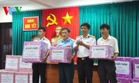 Tet gifts presented to soldiers on Nam Yet island