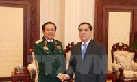 Vietnam, Laos' military forces cooperate effectively