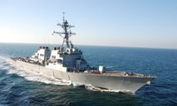 US navy destroyer conducts freedom-of-navigation operations in the East Sea