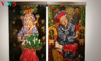 Lacquer paintings feature Mother Goddess Worshipping belief