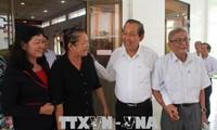 Deputy PM Truong Hoa Binh meets voters in Long An