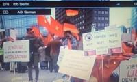 德国媒体报道有关旅德越南人举行游行示威反对中国加强在东海军事化行动的消息