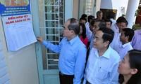 越南国家选举委员会副主席阮善仁检查同奈省选举工作