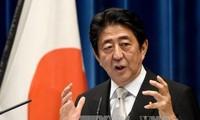 日本首相重申日中韩三方合作关系的重要性