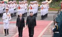 Toàn cảnh Lễ đón Chủ tịch Triều Tiên Kim Jong Un tại Phủ Chủ tịch