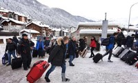 Davos sous la neige, le trafic perturbé