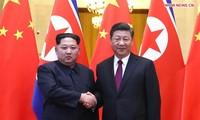 Entretien à Pékin entre Xi Jinping et Kim Jong-un