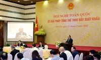 Le PM appelle à doper les exportations