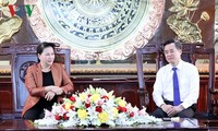 La présidente de l'Assemblée nationale visite Bac Liêu
