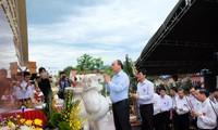 Cérémonie d'hommage aux morts pour la patrie à Quang Nam
