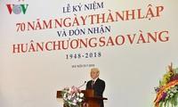 Le secrétaire général du Parti à l'anniversaire de l'Union des associations des lettres et des arts