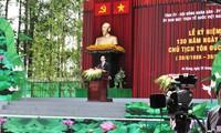 Célébration du 130e anniversaire du Président Tôn Duc Thang