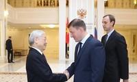 Nguyên Phu Trong rencontre des responsables des deux chambres du Parlement russe