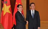 Le vice-Premier ministre Vuong Dinh Huê en Chine