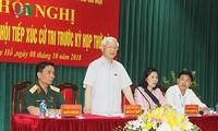 Nguyên Phu Trong rencontre l'électorat de Hanoi
